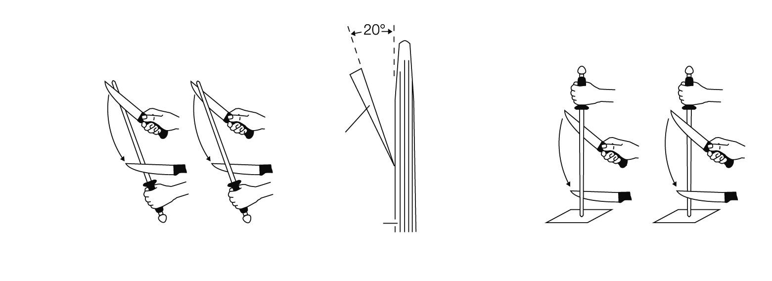 jak brousit nože kované nože wusthof pomocí ocílky